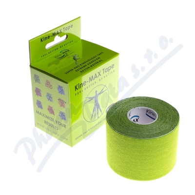 Zobrazit detail - KineMAX SuperPro Ray.  kinesiology tape zele. 5cmx5m