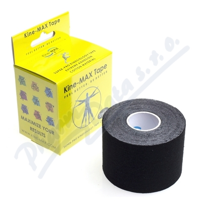 Zobrazit detail - KineMAX SuperPro Cot.  kinesiology tape �ern. 5cmx5m