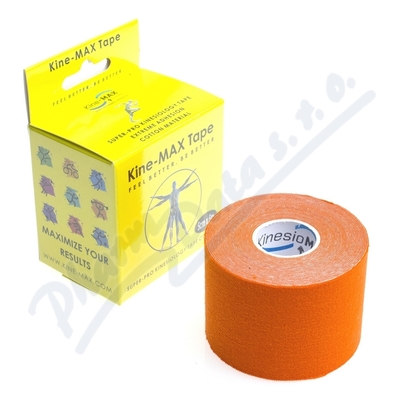 Zobrazit detail - KineMAX SuperPro Cot.  kinesiology tape oran. 5cmx5m
