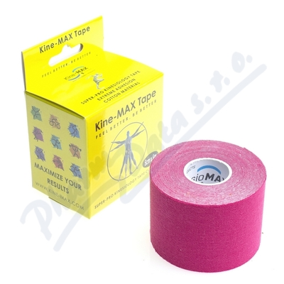 KineMAX SuperPro Cot. kinesiology tape růž.5cmx5m
