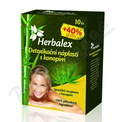 Zobrazit detail - Herbalex detoxik. náplast s konopím 10ks+40%gratis