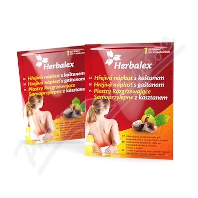 Zobrazit detail - Herbalex hřejivá náplast s kaštanem 1ks