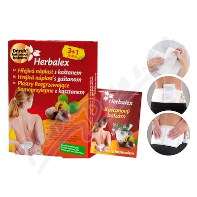 Zobrazit detail - Herbalex hřejivá nápl.  s kaštan.  3+1+BED PÁS+Dárek