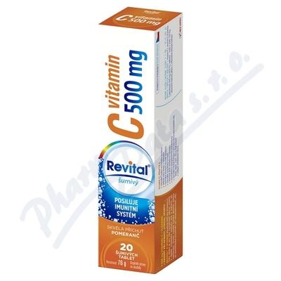 Zobrazit detail - Revital C vitamin 500mg Pomeranč eff. tbl. 20