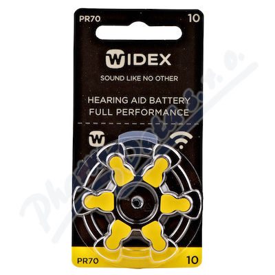 Zobrazit detail - Baterie do naslouchadel Widex 10 6ks