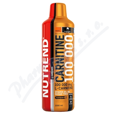Zobrazit detail - NUTREND Carnitine 100 000 pomeranč 1000ml