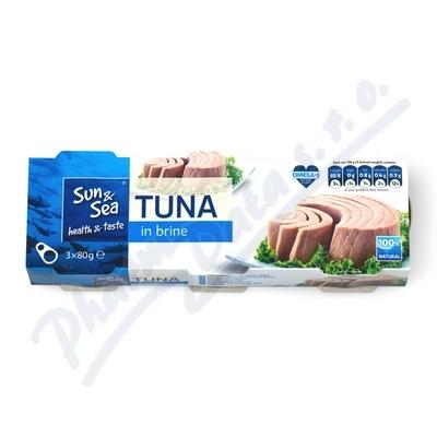 Tuňák ve vlastní šťávě 3x80g Sun&Sea