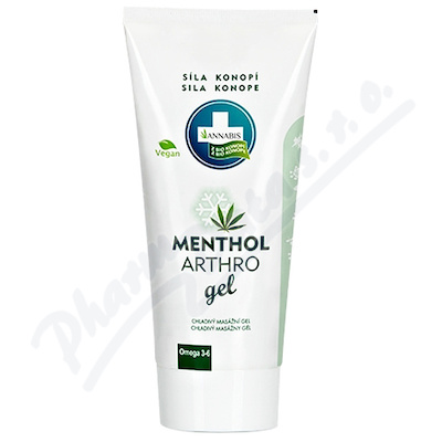 Menthol Arthro Gel konopné mazání 200ml