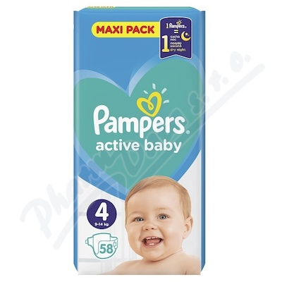 Zobrazit detail - PAMPERS Active Baby VPP 4 Maxi 58ks