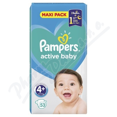 Zobrazit detail - PAMPERS Active Baby VPP 4+ Maxi Plus 53ks