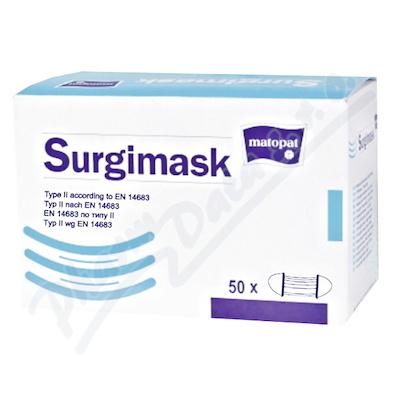 Zobrazit detail - Surgimask obličejová maska s gumičkou 50ks