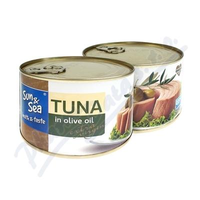 Zobrazit detail - Tuňák v olivovém oleji s extra virgin 400g Sun&Sea