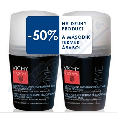 Zobrazit detail - VICHY HOMME Deo Roll-on DUO 2x50ml