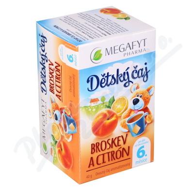 Zobrazit detail - Megafyt Dětský čaj broskev a citrón 20x2g