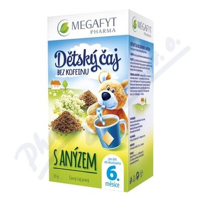 Zobrazit detail - Megafyt Dětský čaj bez kofeinu s anýzem 20x1. 75g