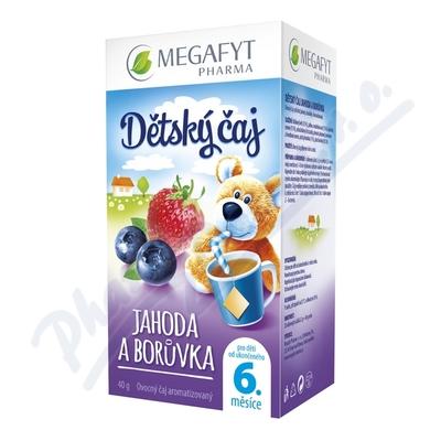 Zobrazit detail - Megafyt Dětský čaj jahoda a borůvka 20x2g