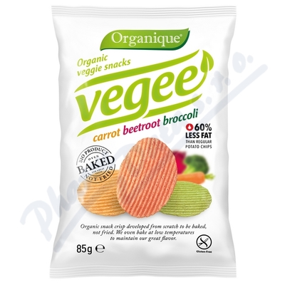 Zobrazit detail - Organic veggie chips carrot beetrot broccoli 85g