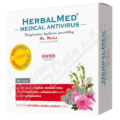 HerbalMed MEDICAL pastilky Dr.Weiss ZP - 20past.
