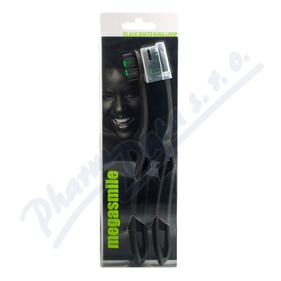 MegaSmile Zubn� kart��ek Black Whitening Loop 2ks