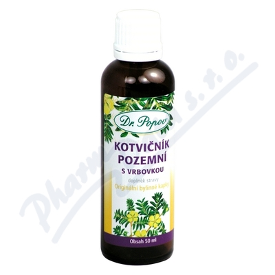 Zobrazit detail - Dr. Popov Kapky bylinné Kotvičník s vrbovkou 50ml