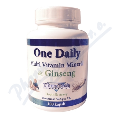 TheraTech One Daily multivit+min.+Ginseng cps.100