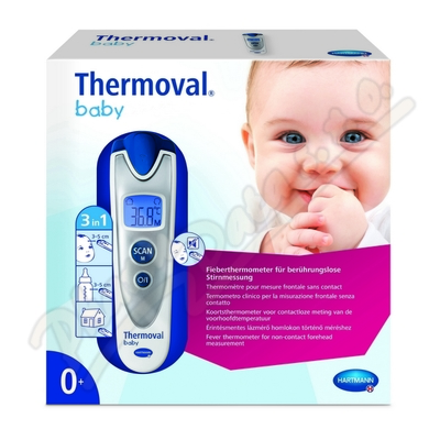 Zobrazit detail - Teploměr THERMOVAL Baby bezdotykový infračervený