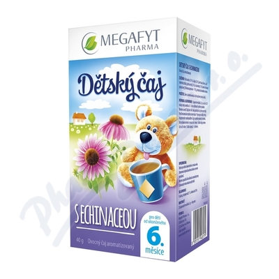 Zobrazit detail - Megafyt Dětský čaj s echinaceou 20x2g
