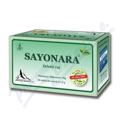 Zobrazit detail - Sayonara zelen� �aj 20x1. 5g n�levov� s��ky