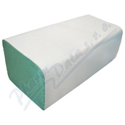 Ručníky papír.sklád. ZZ zelené 1vrstvé 2x250ks