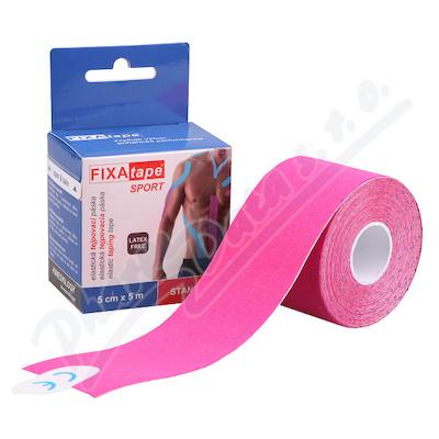 FIXAtape Sport Kinesio tejp.páska 5cmx5m růžová