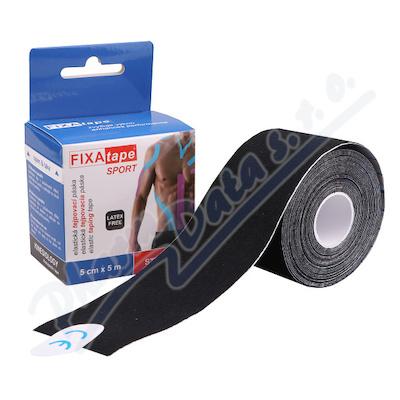 FIXAtape Sport Kinesio tejp.páska 5cmx5m černá