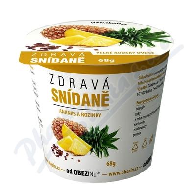 Zobrazit detail - Zdravá snídaně od Obezinu ananas a rozinky 78g