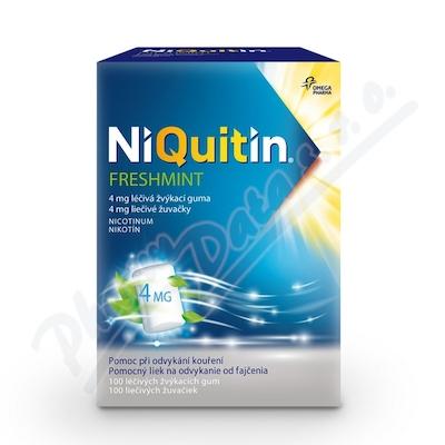 Zobrazit detail - NiQuitin Freshmint 4 mg gum. mnd. 100 I