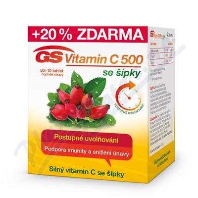 Zobrazit detail - GS Vitamin C500 se šípky tbl. 50+10 2016