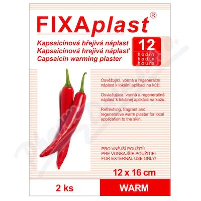 Zobrazit detail - Náplast kapsaicinová FIXAplast WARM 12x16cm 2ks