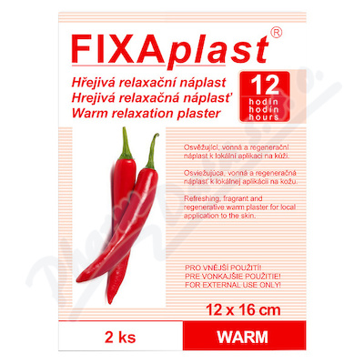 Zobrazit detail - FIXAplast kapsaicin. hřejivá nápl. WARM 12x16cm 2ks