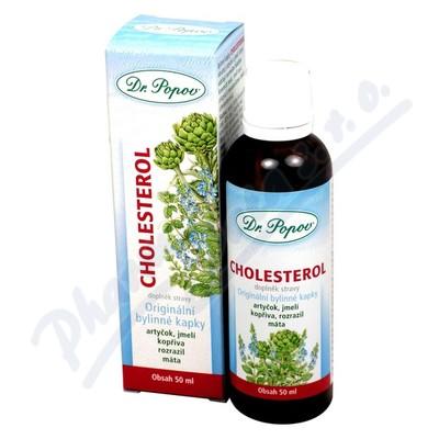 Kapky bylinné Cholesterol Dr.Popov 50ml