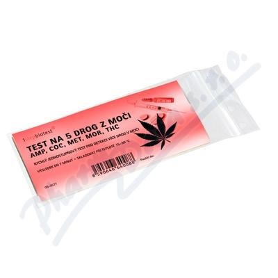 Zobrazit detail - Test na 5 drog z moči AMP COC MET MOR THC
