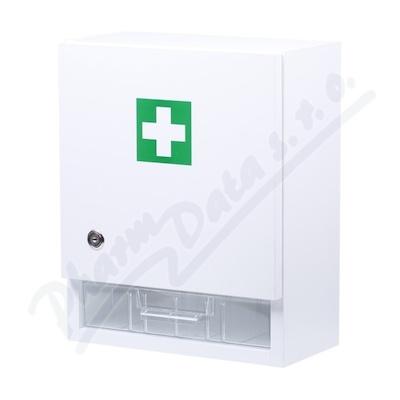 Zobrazit detail - Lékárnička-nástěnná dřevěná 40x32x17-prázdná bílá