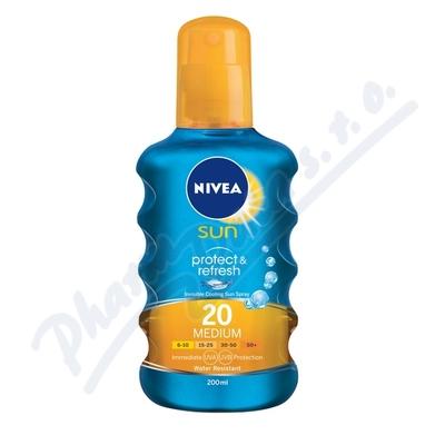 NIVEA SUN Nev.sprej opal. Protect&Refr. OF20 200ml