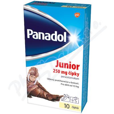 Zobrazit detail - Panadol Junior čípky 250mg rct. sup. 10x250mg