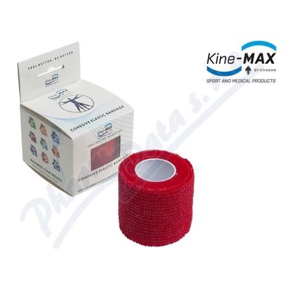 KineMAX Cohesive elast.samofix. 2.5cmx4.5m červené