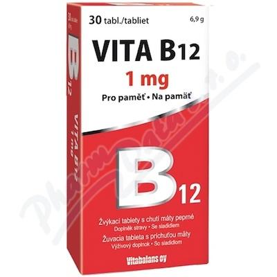 Zobrazit detail - Vita B12 1000 mcg 30 tablet