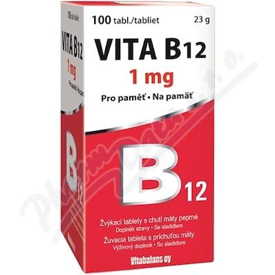 Zobrazit detail - Vita B12 1000 mcg 100 tablet