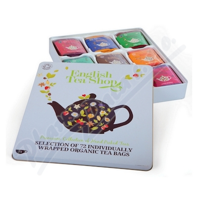 English Tea Shop Bio kazeta čajů 72 sáčků plech