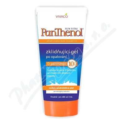 Zobrazit detail - PANTHENOL 10% zklidňující gel po opalování 200ml