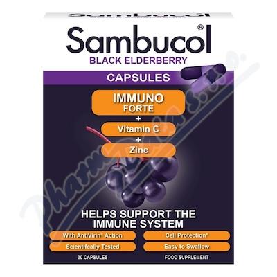 Zobrazit detail - SAMBUCOL Immuno Forte + vitamin C + zinek tob. 30