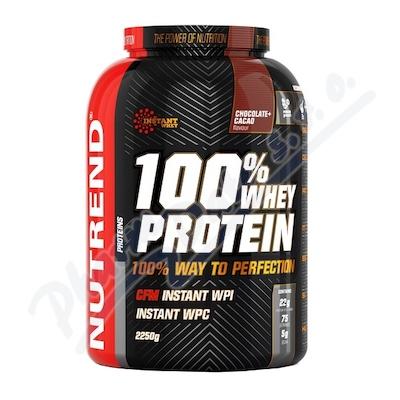 Zobrazit detail - NUTREND 100% Whey Protein čokoláda+kakao 2250g