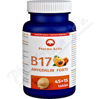 Zobrazit detail - Vitamín B17 FORTE Amygdalin 45+15tbl.  Zdarma