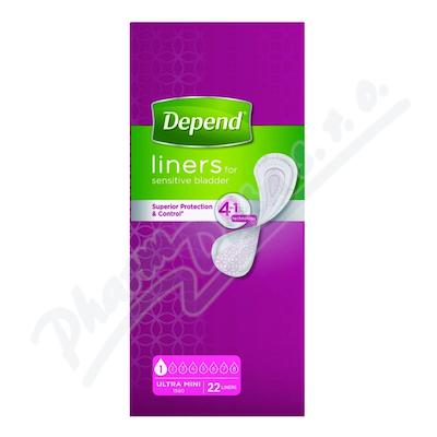 Zobrazit detail - Inkontinenční vložky Depend Ultra Mini 22ks